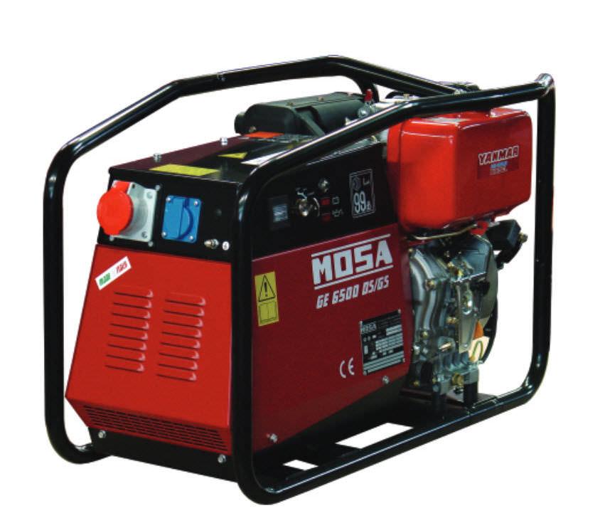 MOSA benzininio generatoriaus nuoma 6 kW